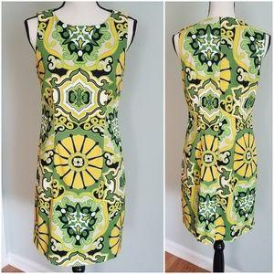 Lemon & Lime Kaleidoscope Sheath Dress 🍋🍈